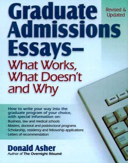 Graduate admission essays help donald asher