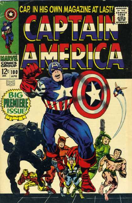 Captain America Comics 100 Captain America 100 Via | Buy