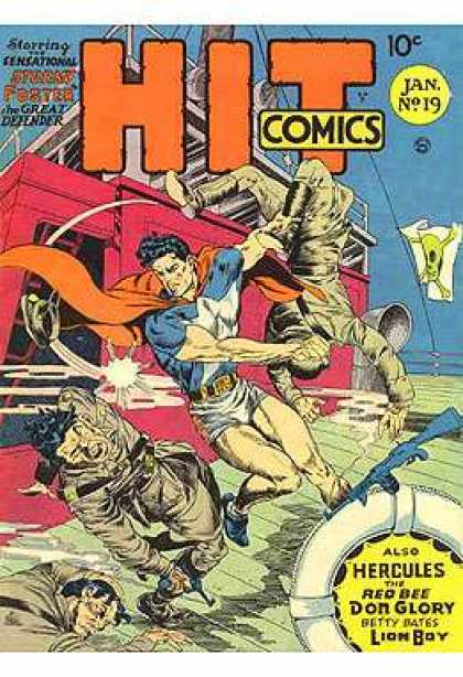 Hit Comics 19 - Wwii - Superhero - 40s - Pirates - Skull And Crossbones