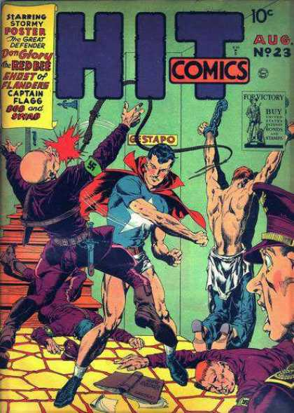 Hit Comics 23 - Red Bee - Superhero - Nazis - Wartime - Stormy Foster