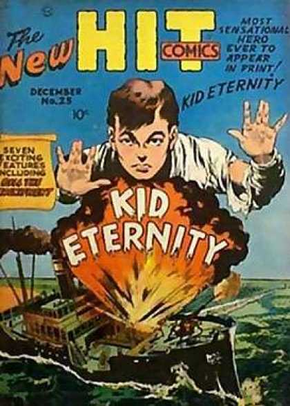 Hit Comics 25 - New Hit Comics - Explosion - Ship - Senational Hero - No 23