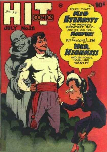 Hit Comics 28 - Kid Eternity - Worlds Greatest Boy - Keeper - Her Higness - Rough Tough And Nasty