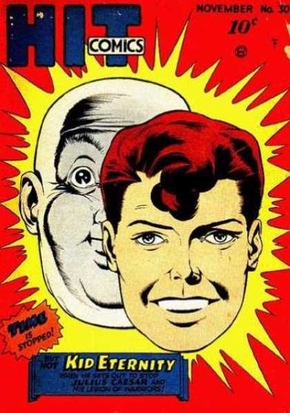 Hit Comics 30 - Kid Eternity - Time - Red - Yellow - Faces