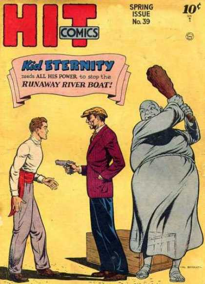Hit Comics 39 - Kid Eternity - Runaway River Boat - Gun - Men - Ghost