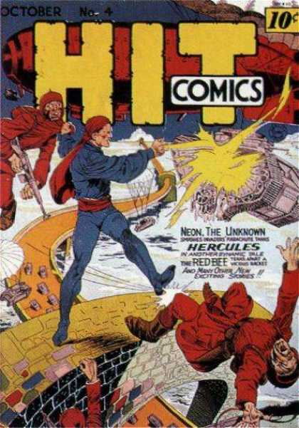 Hit Comics 4 - Battle - War - Neon - Hercules - Red Bee